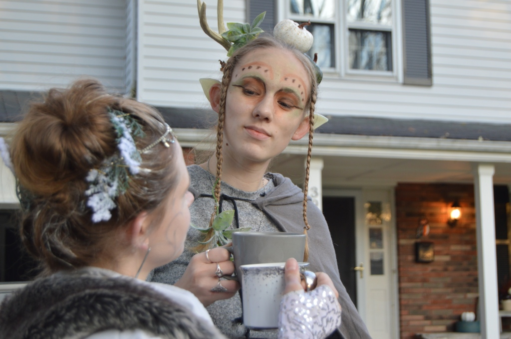 There's my sister as the Winter Fairy/Queen